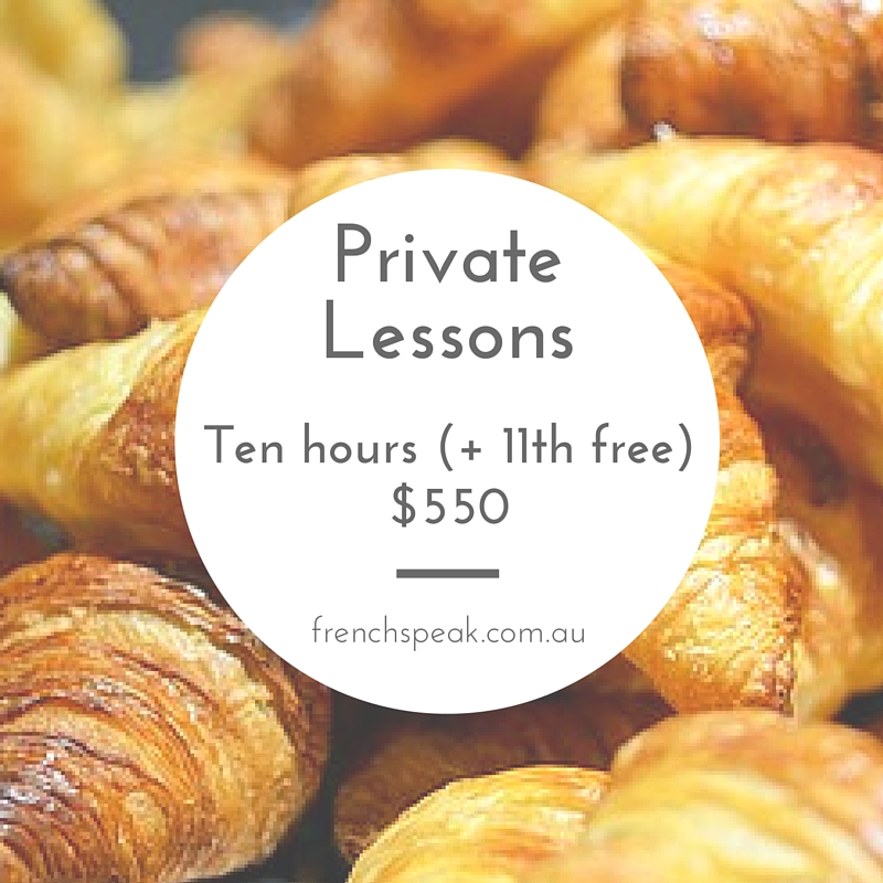 Private Lessons - Block of 11 x 1 hour lessons