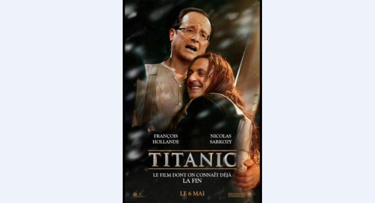 Sarkozy & Hollande Titanic Poster