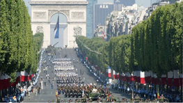 Military parade on Champs-Elysees