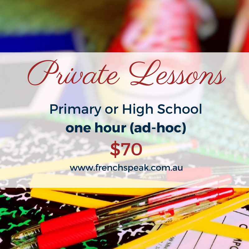 Private Lessons - School - One x 1 hour lesson