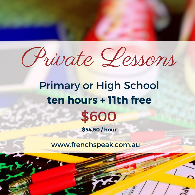Private Lessons - School -  Block of 11 x 1 hour lessons