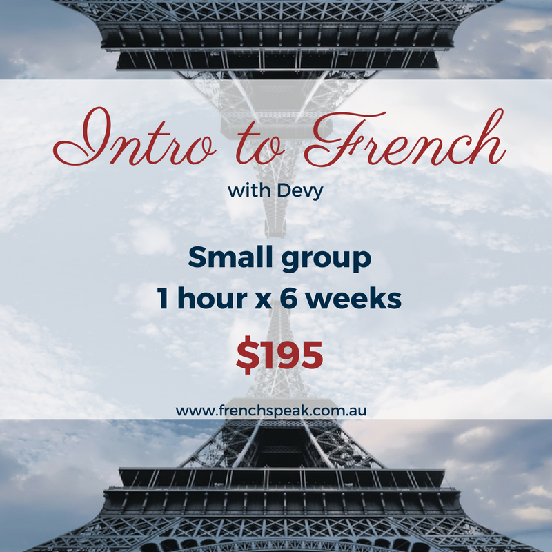 Introduction to French 6-week course