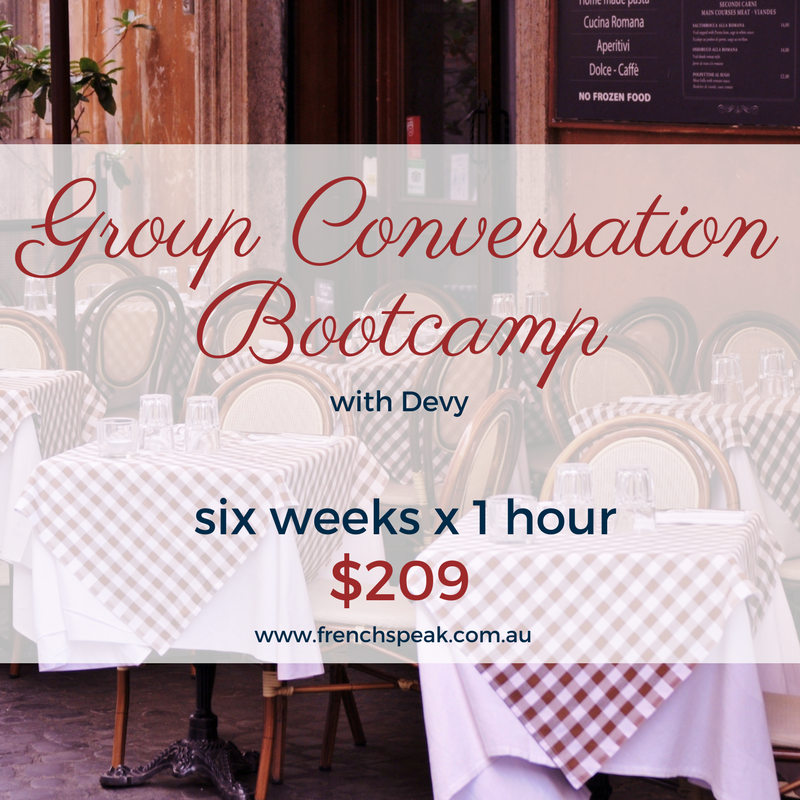 French Conversation Bootcamp 6-week course