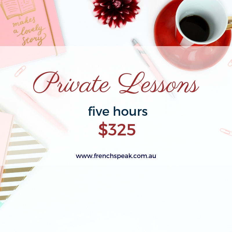 Private Lessons - Block of 5 x 1 hour lessons