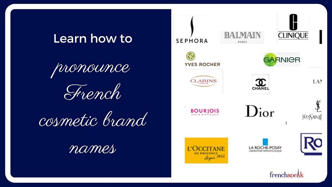 Video: How to pronounce 19 French brand names