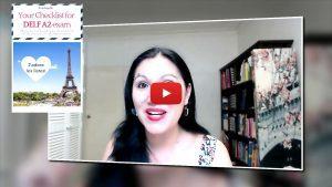 Checklist DELF A2 Exam Video